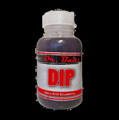 Dr. Baits Dip Spice Krill Strawberry trofejná ryba